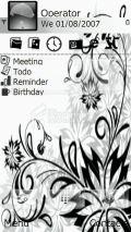 Black & White floral